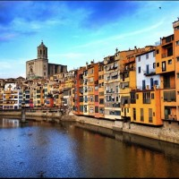 river view of Girona Spain