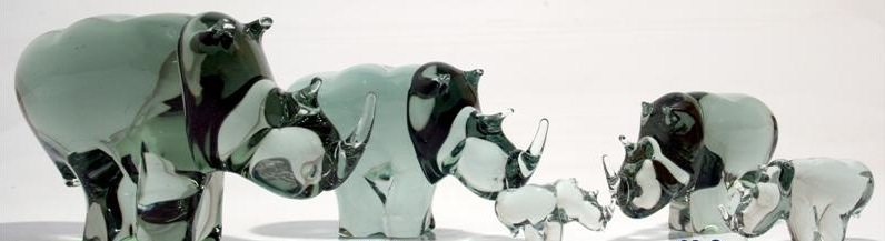 glass elephants