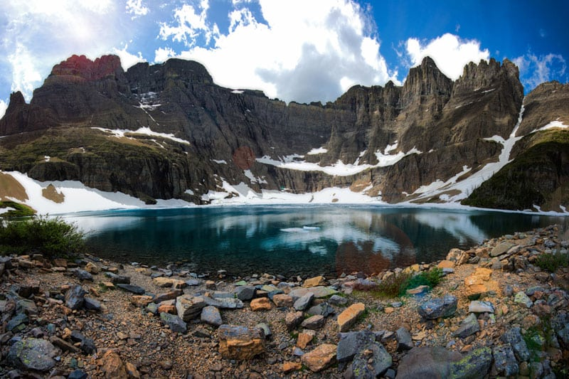 glacier national park hikes Iceberg Lake