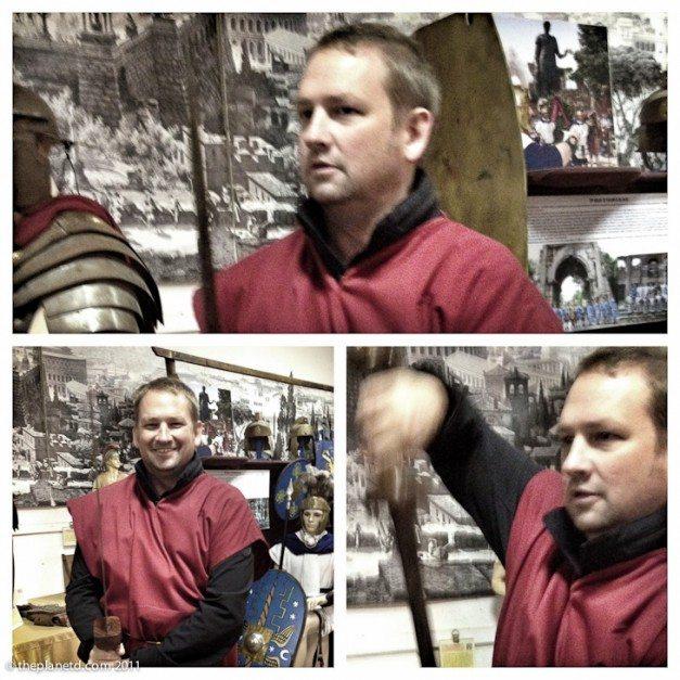 dave fighting gladiator