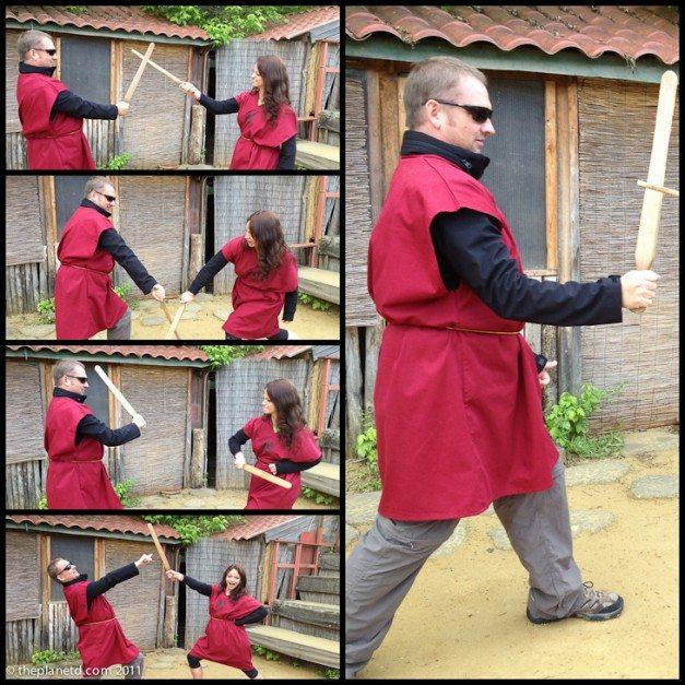 dave practicing gladiator