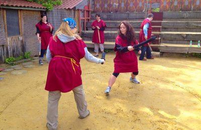 gladiator school rome practicing