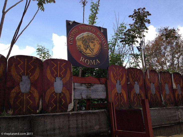 gladiator school rome sign
