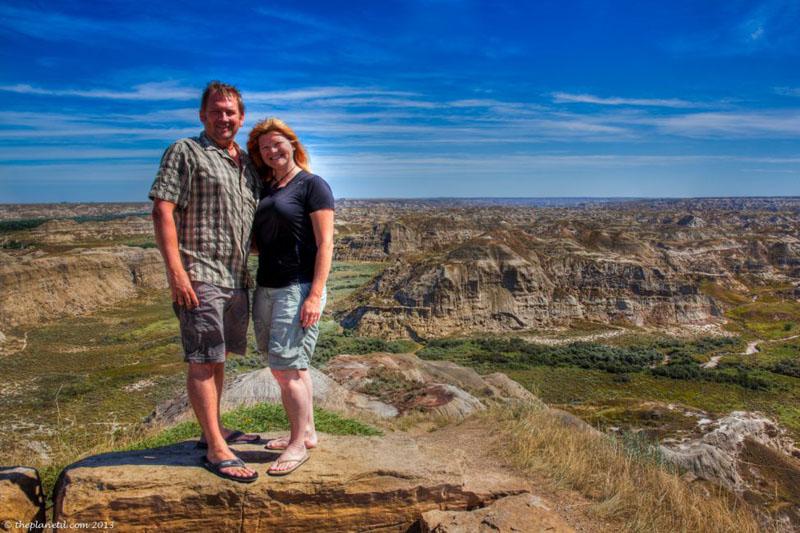glamping dinosaur provincial park dave deb