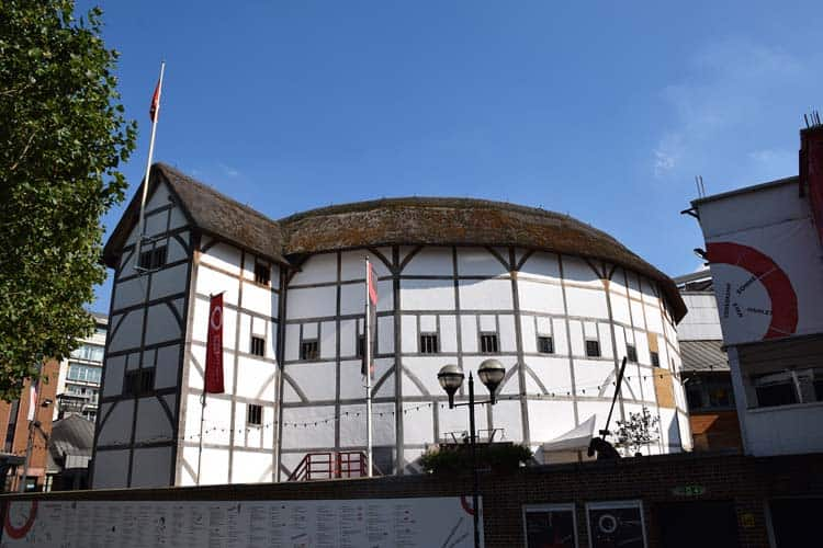 famous landmarks of london | The globe theatre
