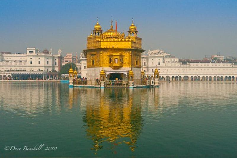 Harmandir Sahib Surrounded by water