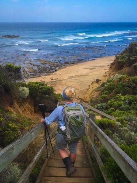 twelve apostles hike stairs to beach