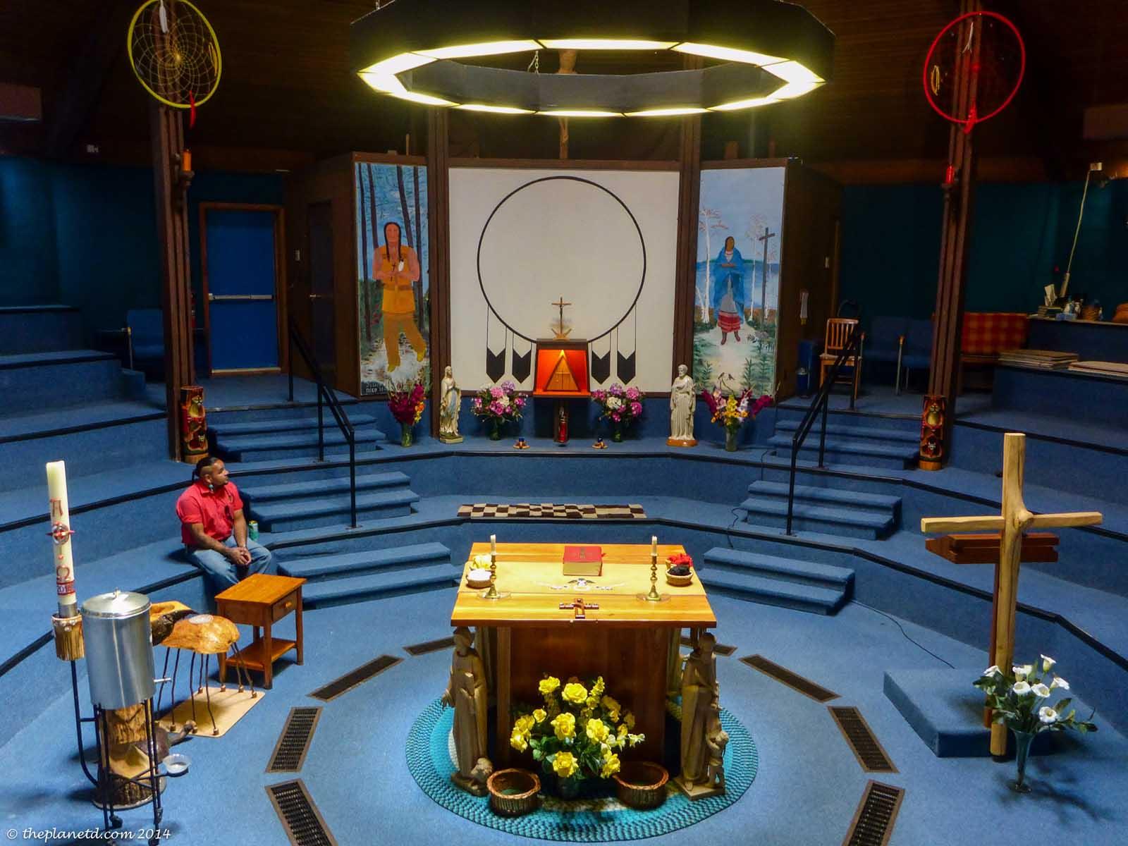church visit on manitoulin island