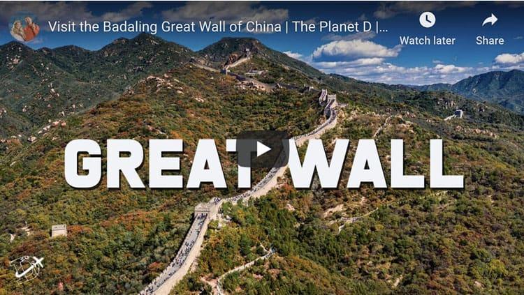 badaling great wall of china video