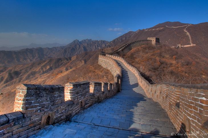 great wall of china empty