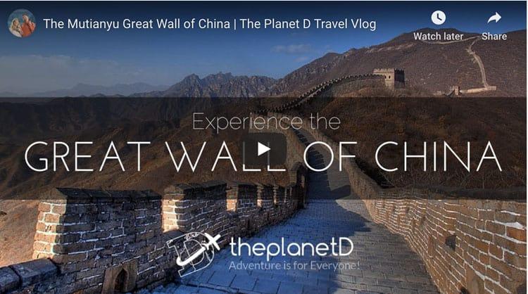 mutianyu great wall of china video