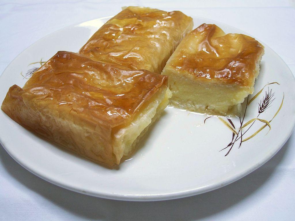 galaktoboureko popular greek dessert