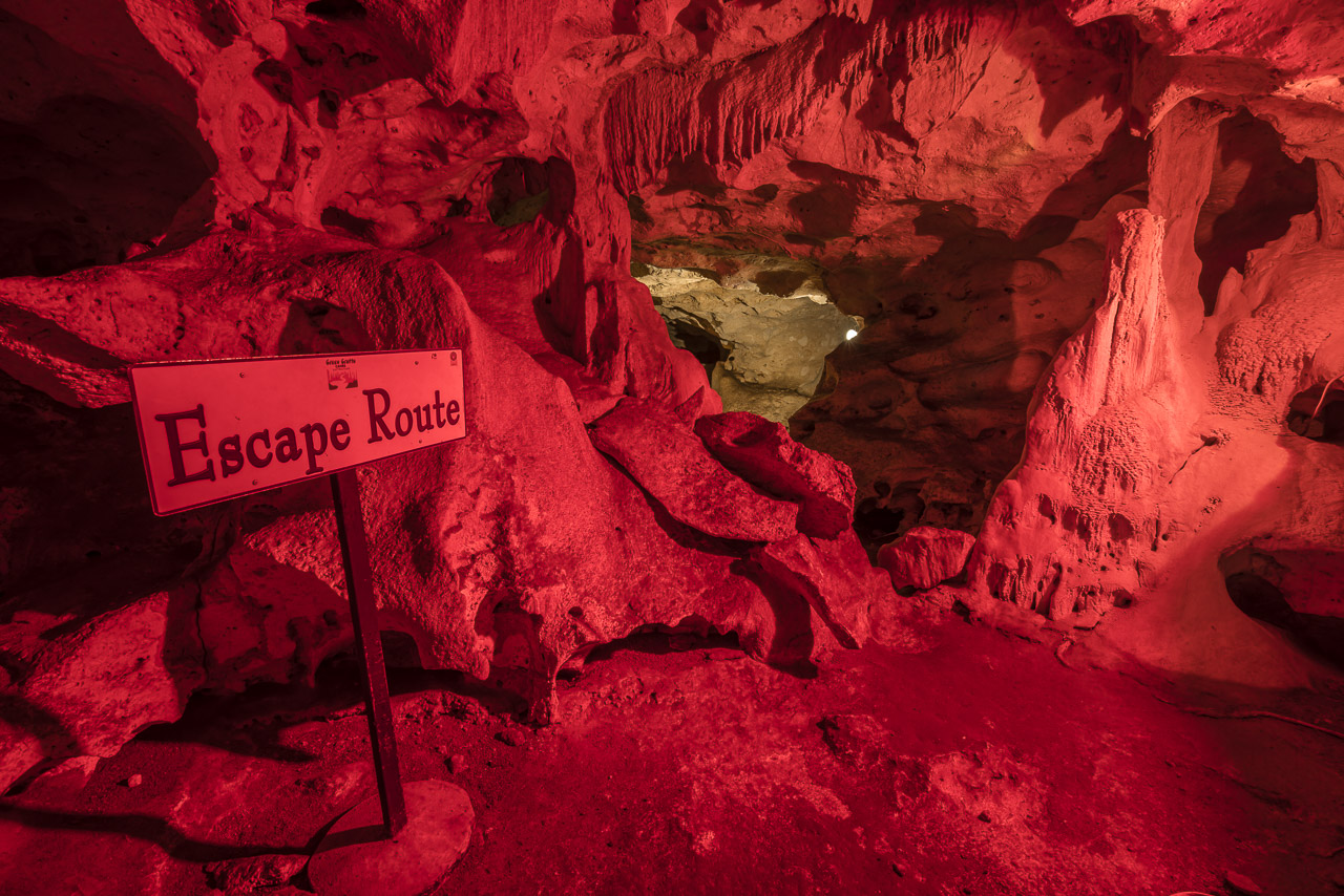 The Escape Route in the Green Grotto Caves