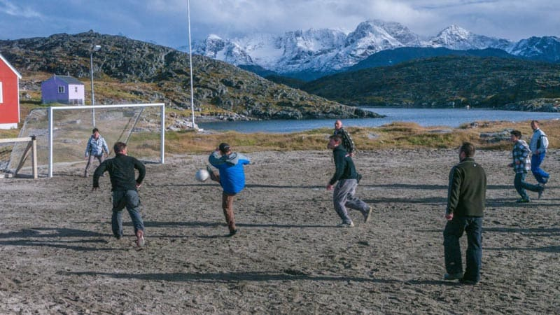 culture of greenland people playing soccer