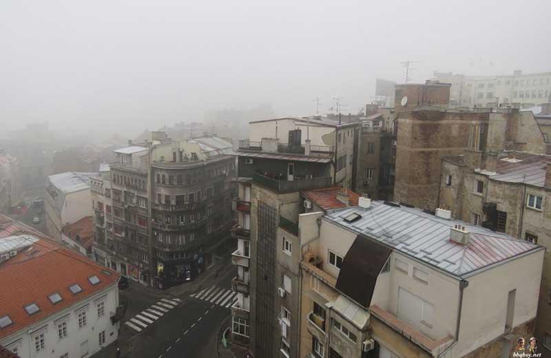 gritty belgrade serbia cityscape