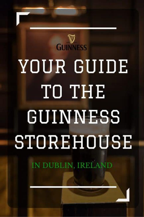 guinness storehouse tour pin
