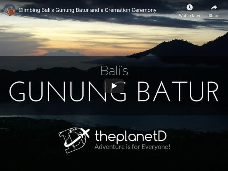 climbing mount batur in bali video
