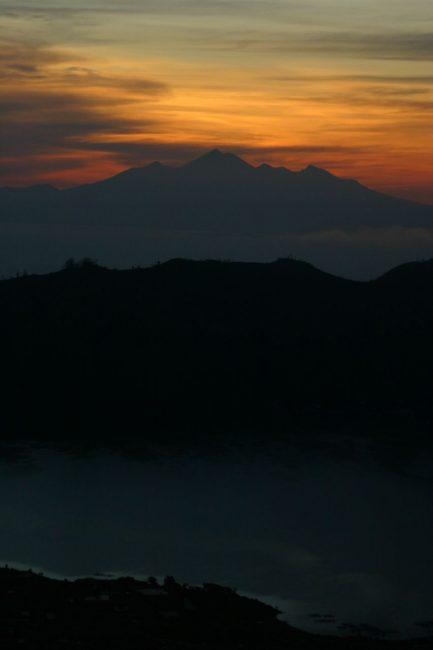 Sunrise over Gunung Rinjani and Lombok