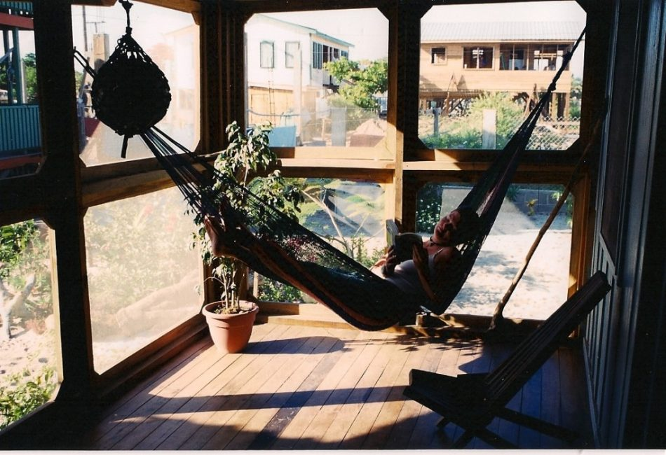 Relaxing in the Hammock at Freddy's