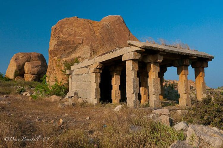 hampi ruins india surrounded by boulders
