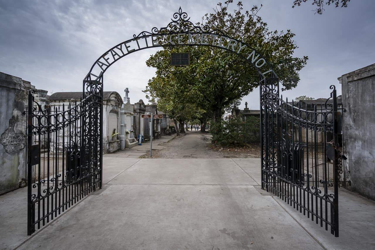 The Lafayette Cemetery No 1 in New Orleans
