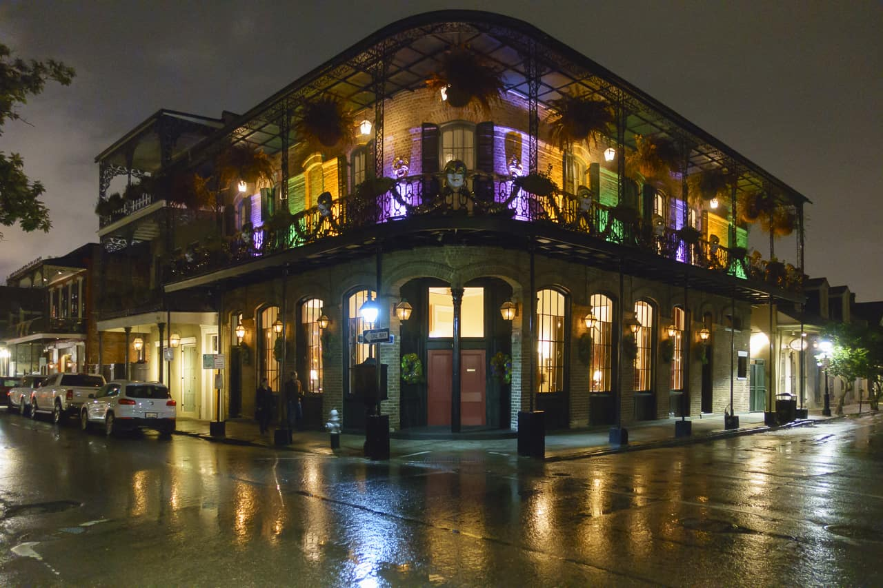 The streets of the haunted New Orleans