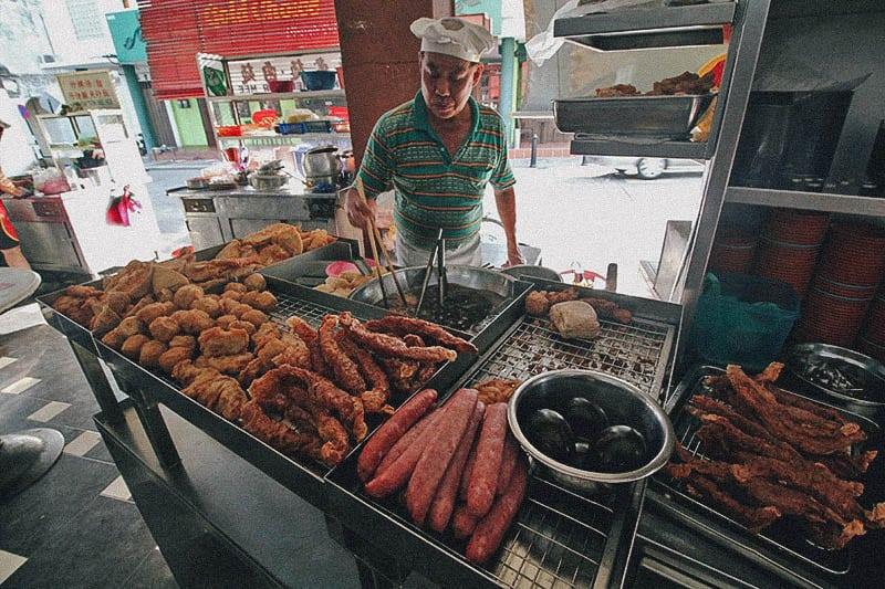 hawker stalls Penang Kheng Pin Cafe