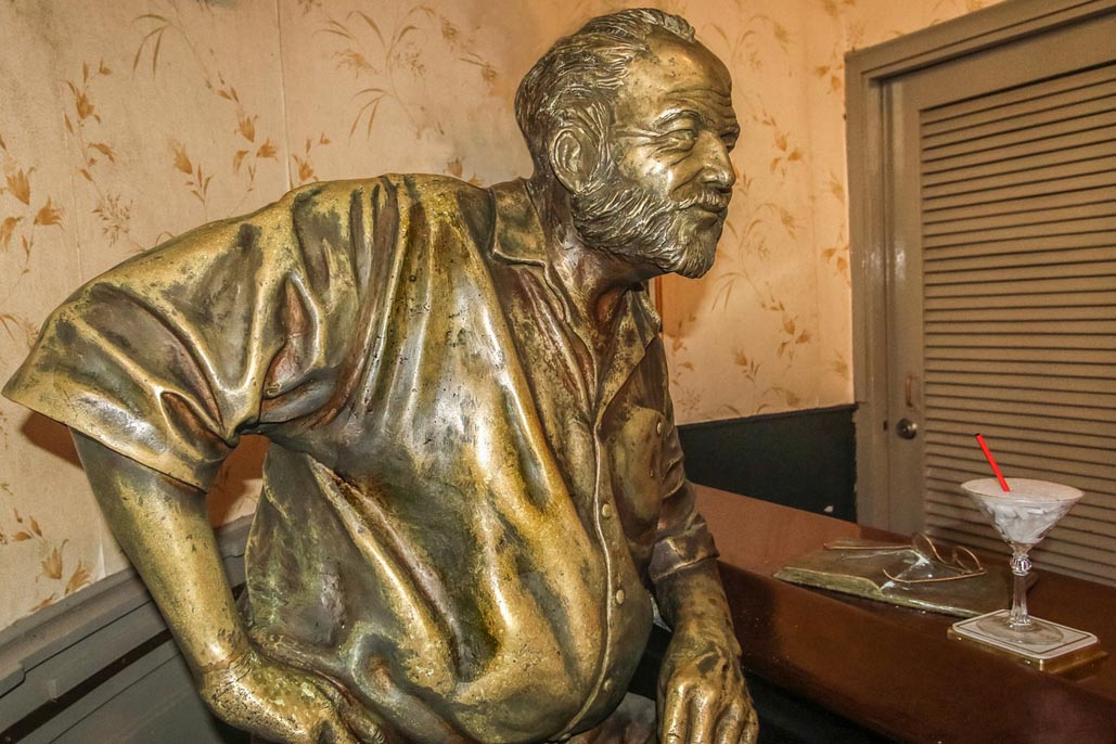 Havana Cuba Attractions statue of hemingway el floridita