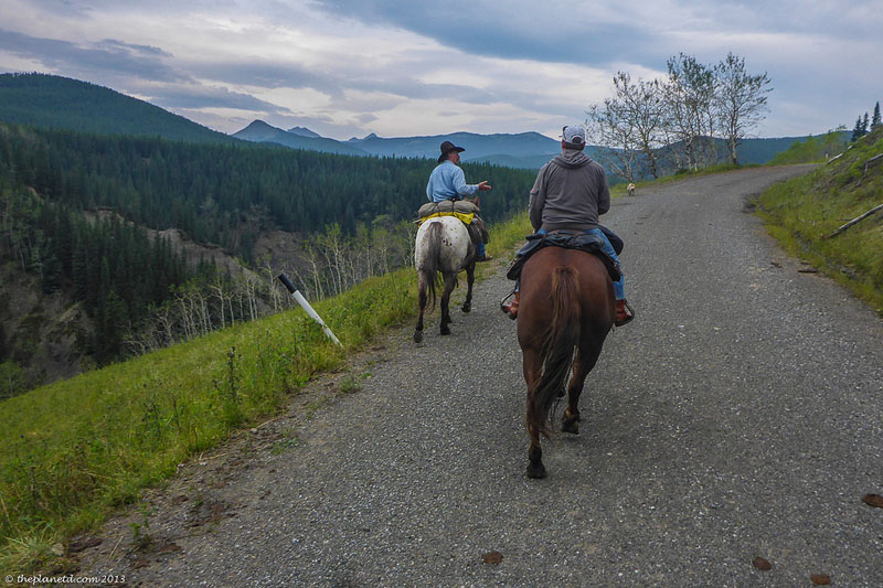 high mountain trail ride trail