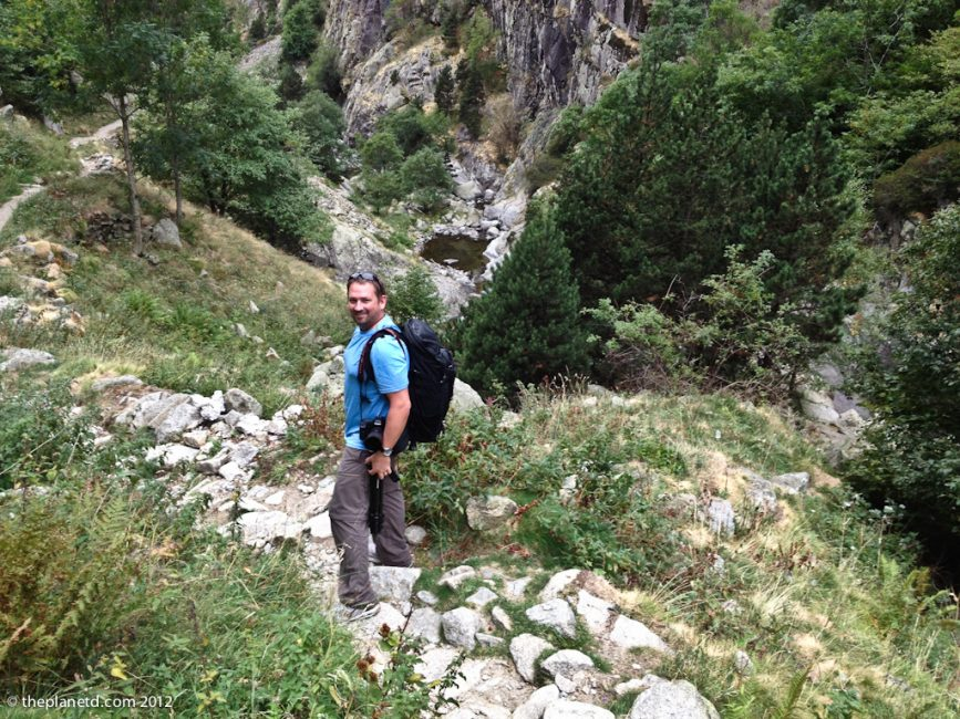 travel photographer Dave hiking in Pyrenees