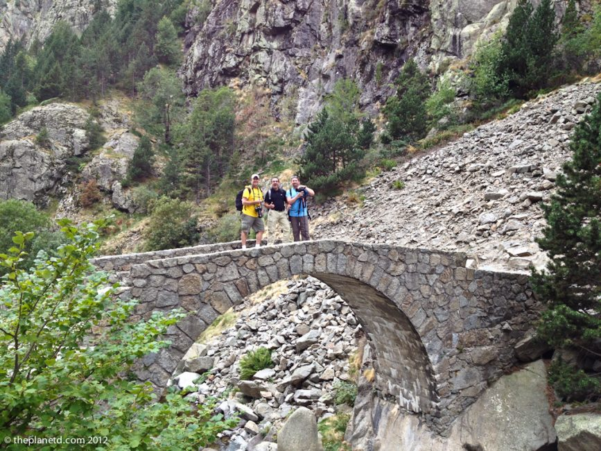 Bridge on Trail of Vall de Nuria