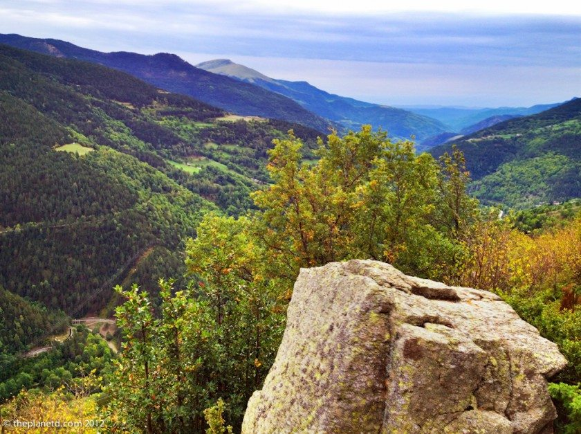 view from hiking at Vall de Nuria