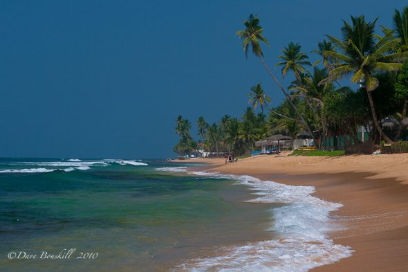 sandy beach of hikkaduwa sri lanka