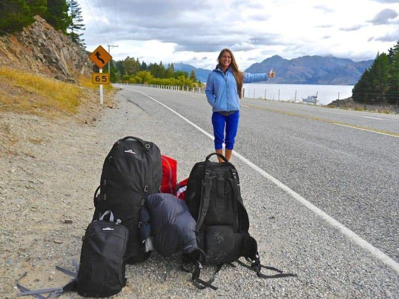 hitchiking new zealand backpacks