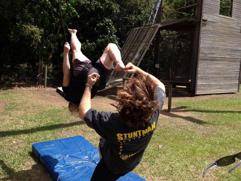 stunt kicking