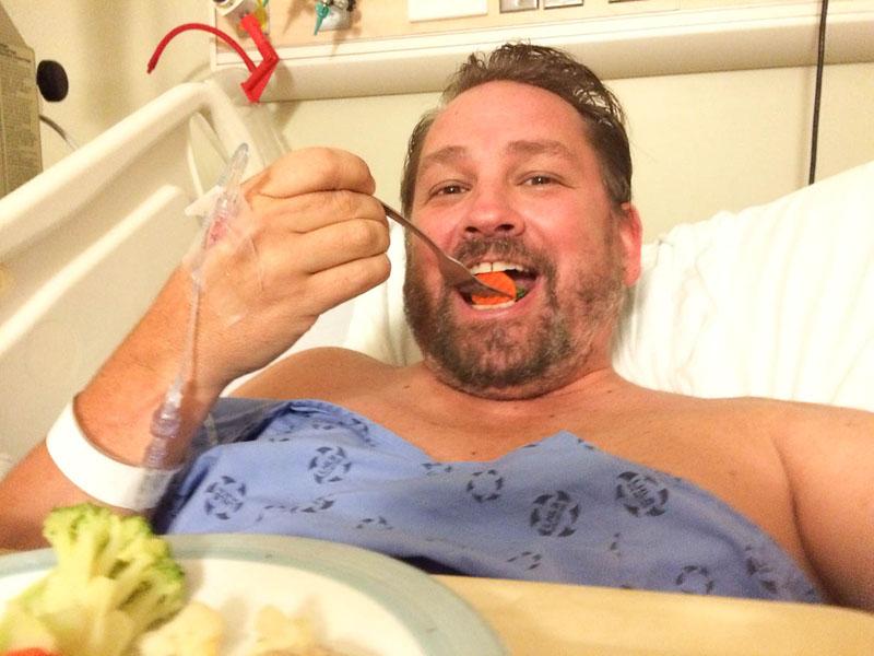 eating dinner hospital