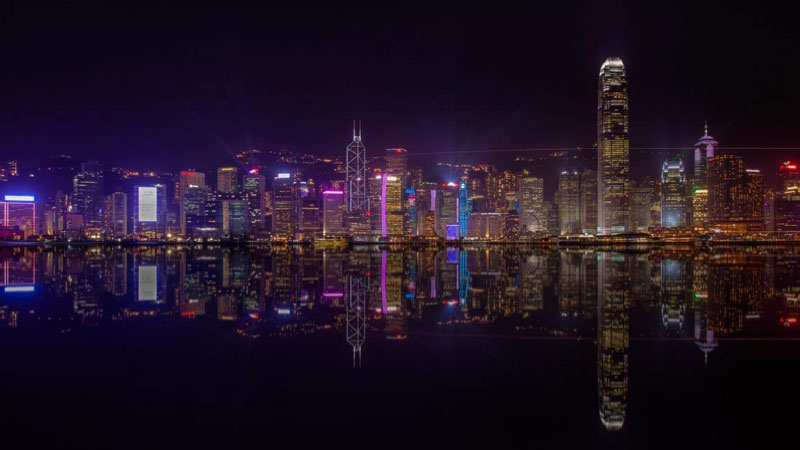 hong kong vacation skyline