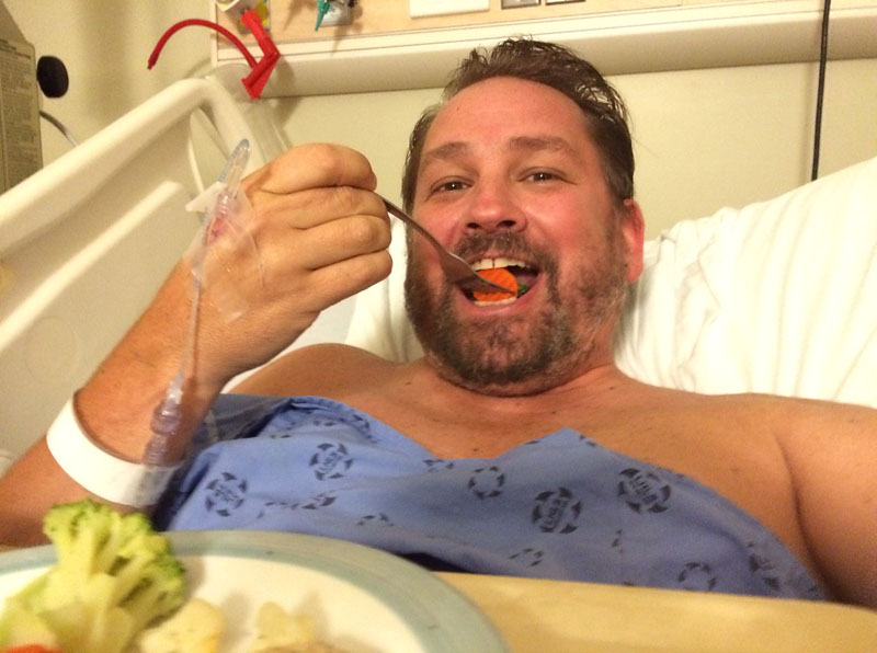 dave eating hospital