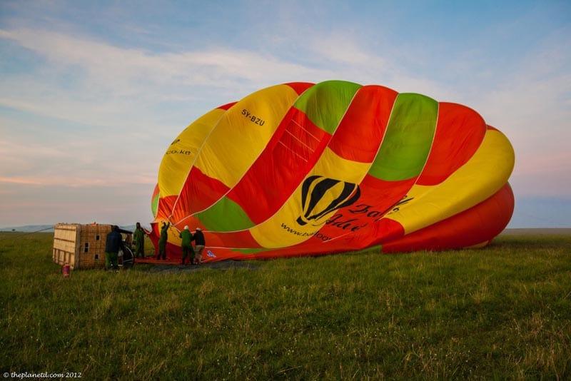 hot air ballooning over the masai mara