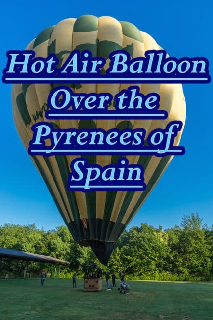 hot air balloon spanish pyrenees