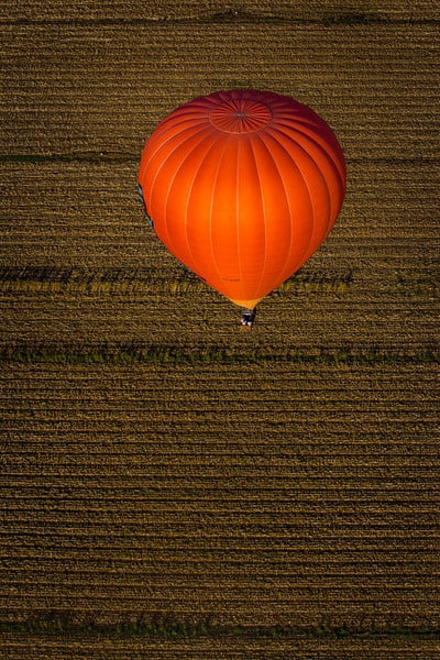 hot air ballooning the Gold Coast, Australia - above another balloon