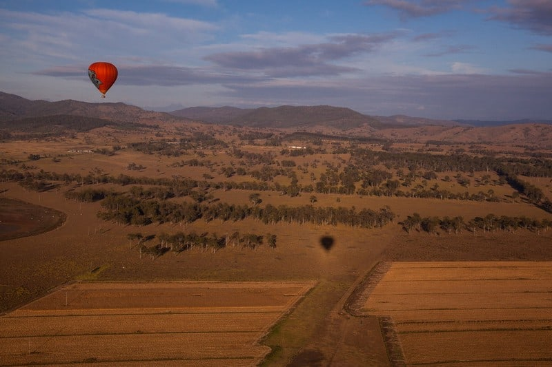 hot air ballooning in Queensland, Australia