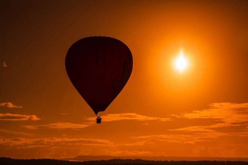 hot air ballooning the Gold Coast Australia
