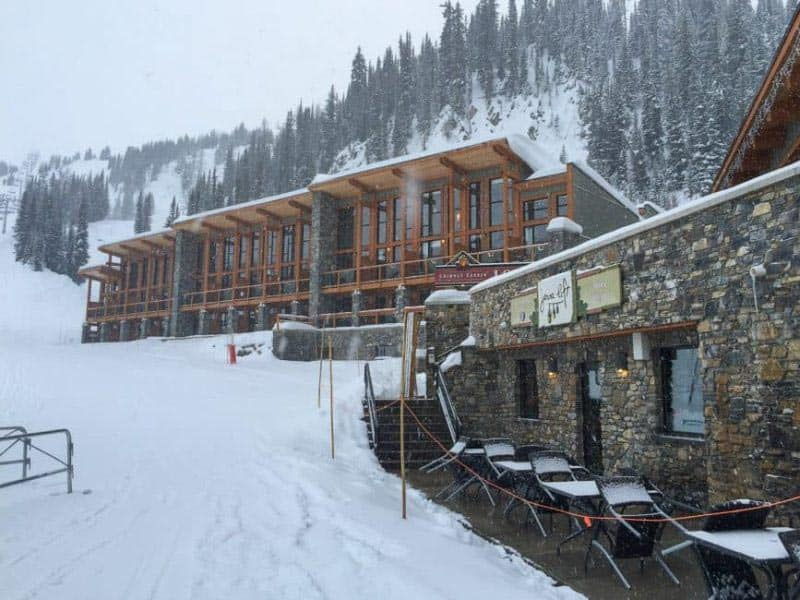slopeside sunshine mountain lodge where to stay in alberta