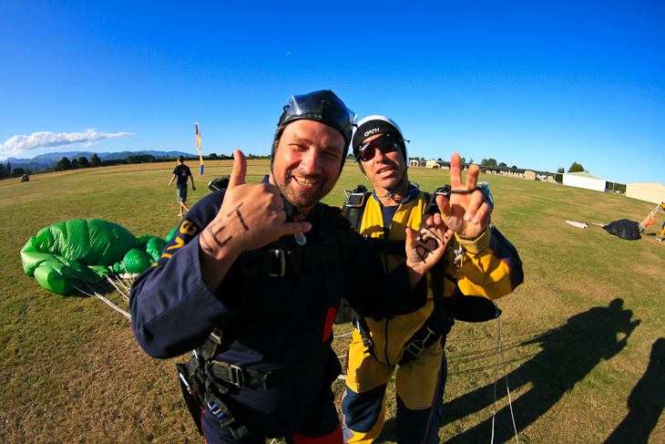 find success step out of comfort zone dave skydiving