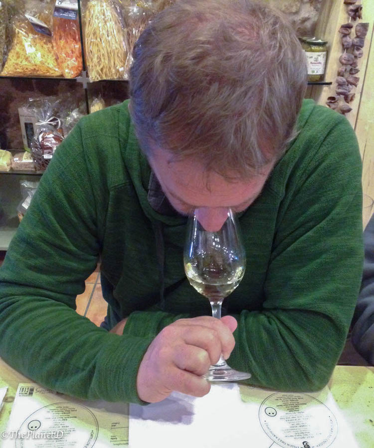 dave wine tasting | smelling the wine