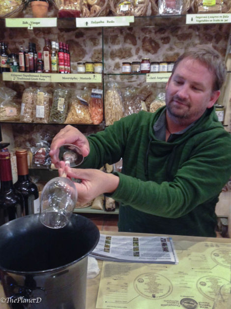 dave pouring wine