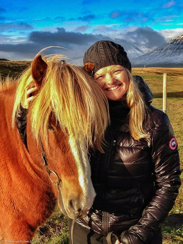 Deb with an Iceland horse
