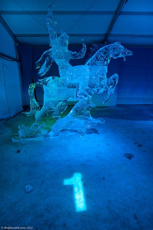 ice carving first place