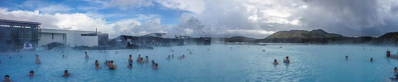 blue lagoon of iceland panorama